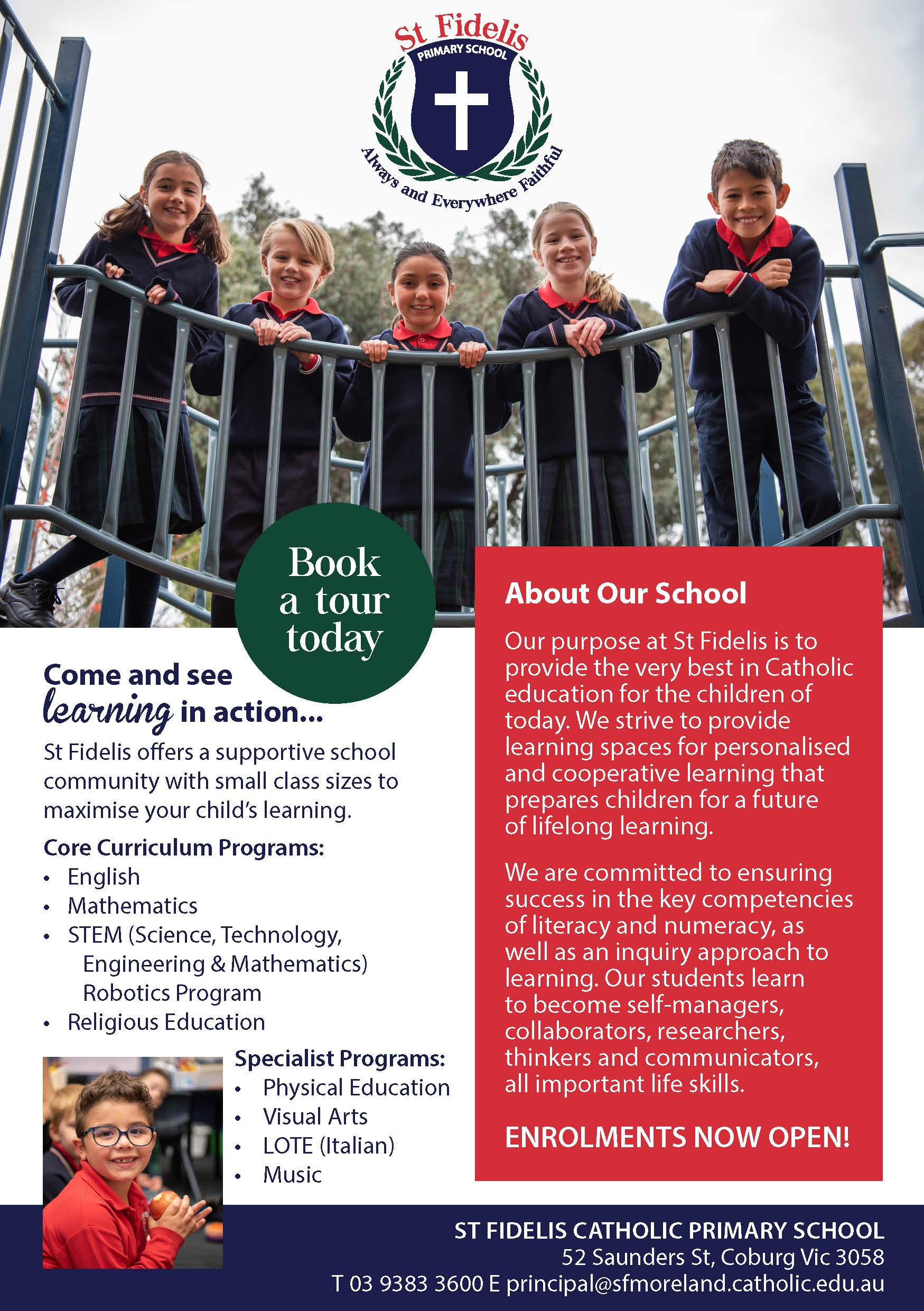 St Fidelis Catholic Primary School - A5 Flyer