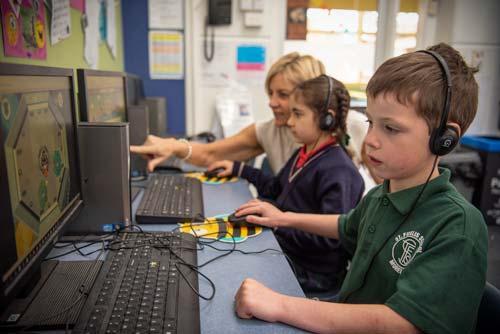 St-fidelis-students-on-computers